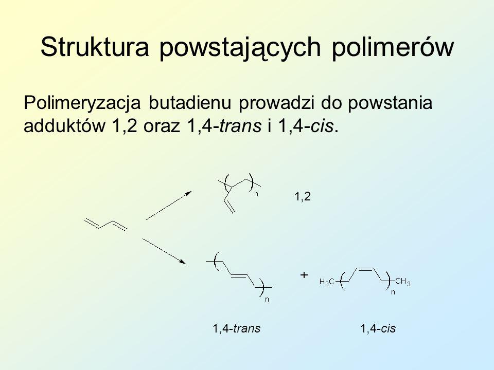 Struktura powstających polimerów