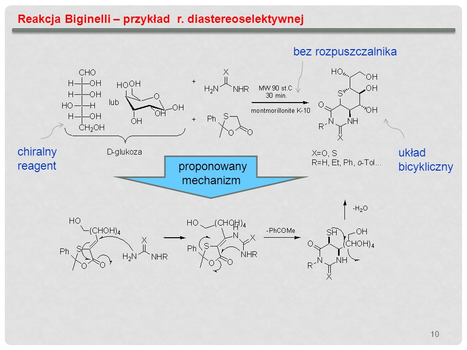 Reakcja Biginelli – przykład r. diastereoselektywnej
