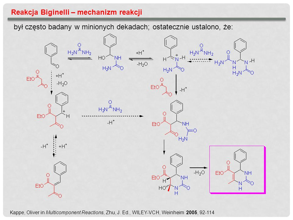 Reakcja Biginelli – mechanizm reakcji