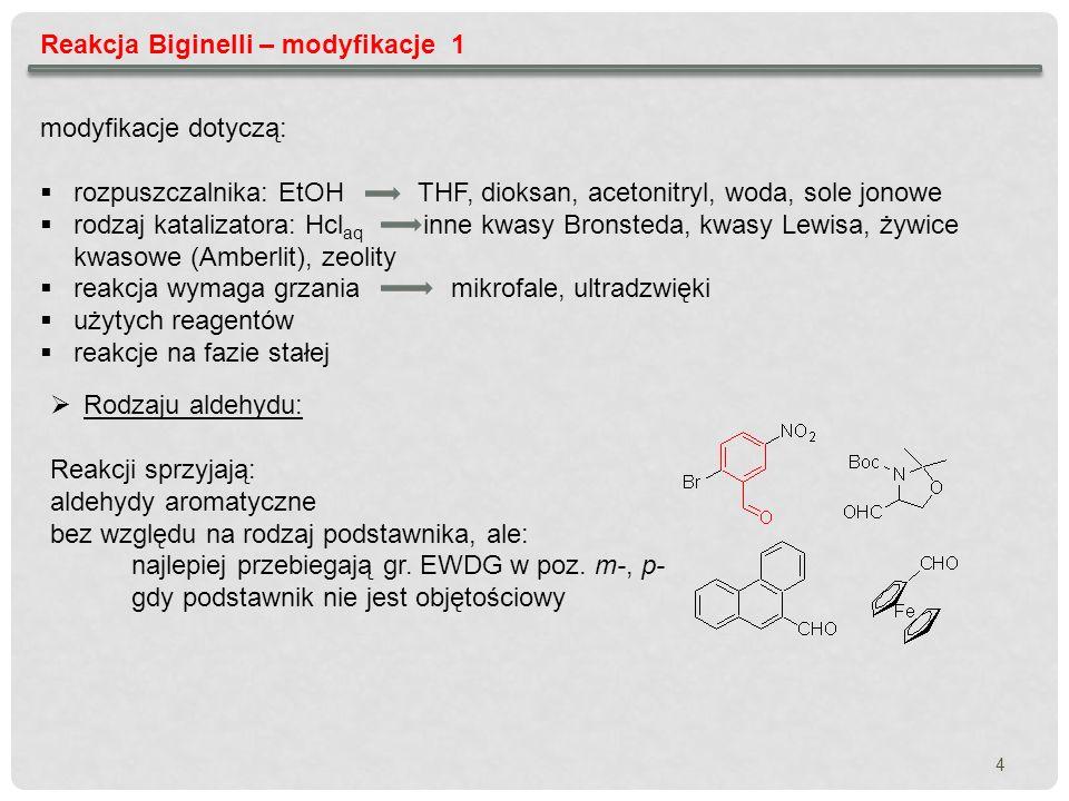 Reakcja Biginelli – modyfikacje 1