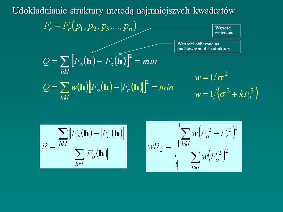 Udokładnianie struktury metodą najmniejszych kwadratów