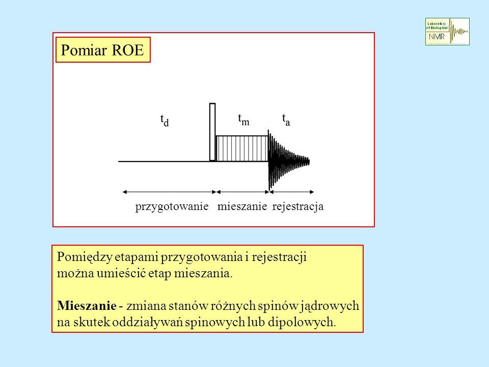 Pomiar ROE Pomiędzy etapami przygotowania i rejestracji