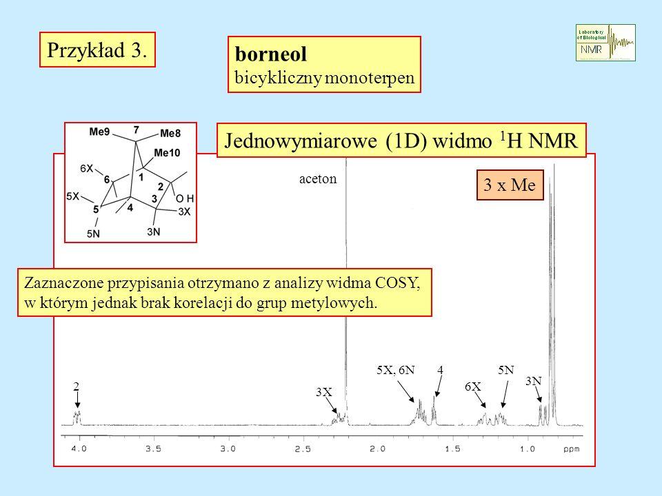 Jednowymiarowe (1D) widmo 1H NMR