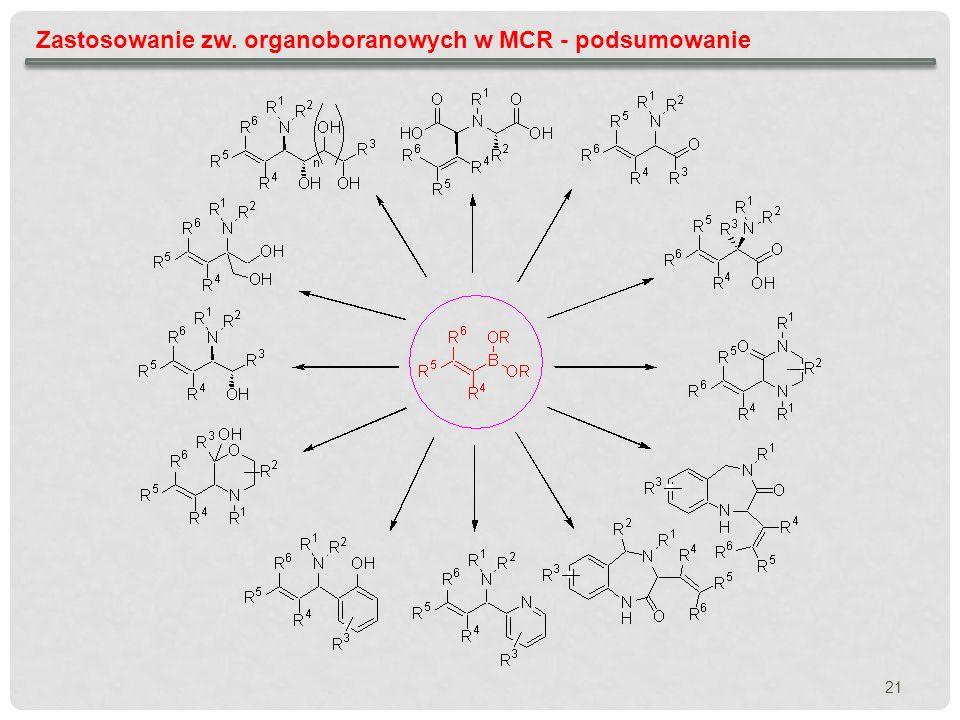 Zastosowanie zw. organoboranowych w MCR - podsumowanie