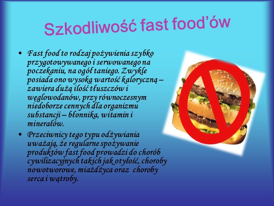 Szkodliwość fast food'ów