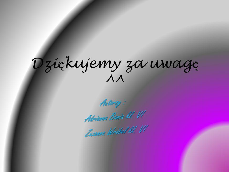 Autorzy : Adrianna Bania kl. VI Zuzanna Wróbel kl. VI