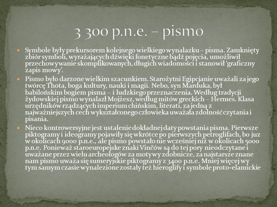3 300 p.n.e. – pismo
