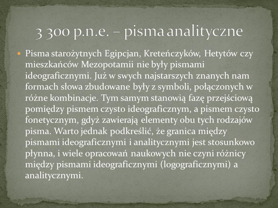 3 300 p.n.e. – pisma analityczne