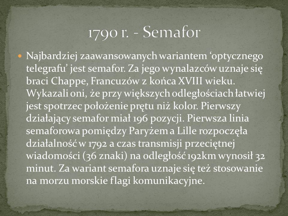 1790 r. - Semafor