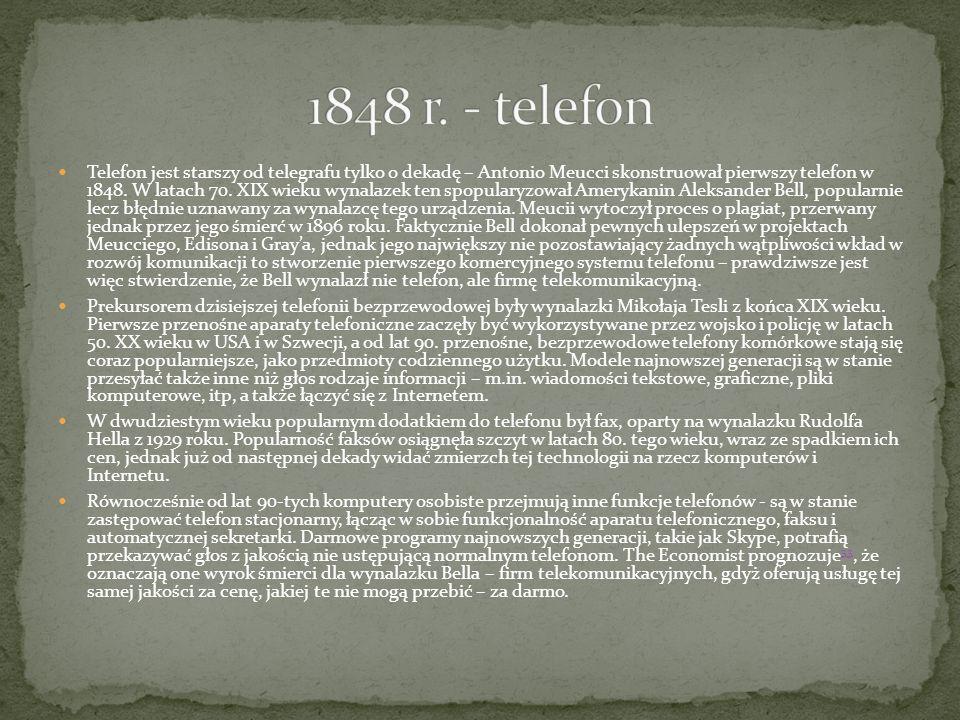 1848 r. - telefon