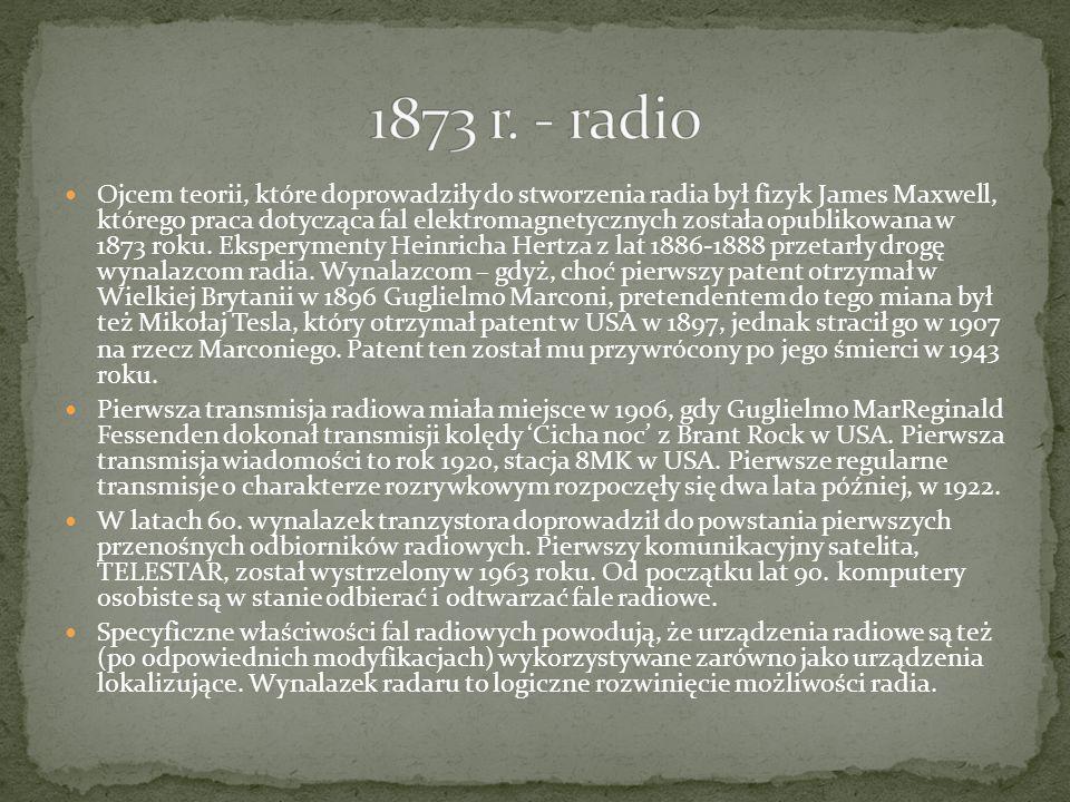 1873 r. - radio