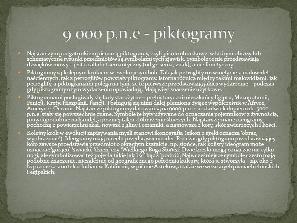 9 000 p.n.e - piktogramy