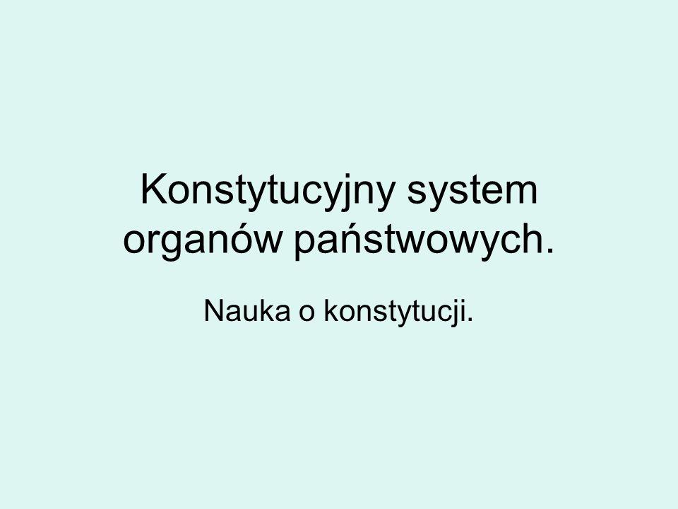 Konstytucyjny system organów państwowych.