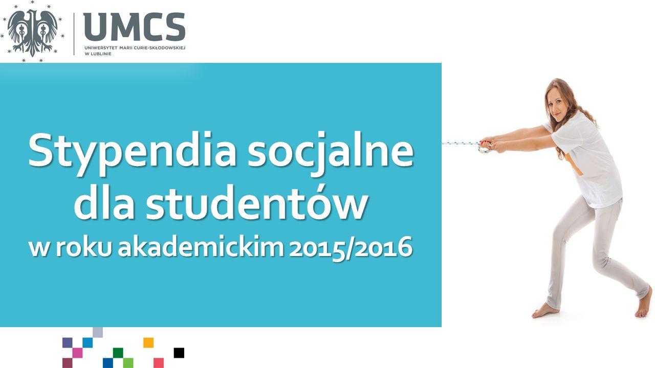 Stypendia socjalne dla studentów w roku akademickim 2015/2016