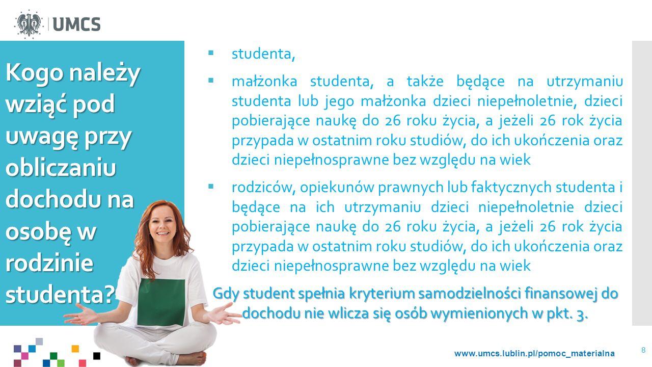 Kogo należy wziąć pod uwagę przy obliczaniu dochodu na osobę w rodzinie studenta