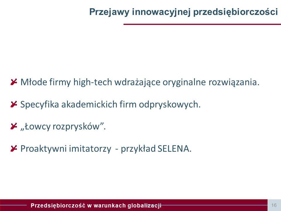 Przejawy innowacyjnej przedsiębiorczości