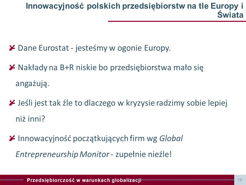 Innowacyjność polskich przedsiębiorstw na tle Europy i Świata