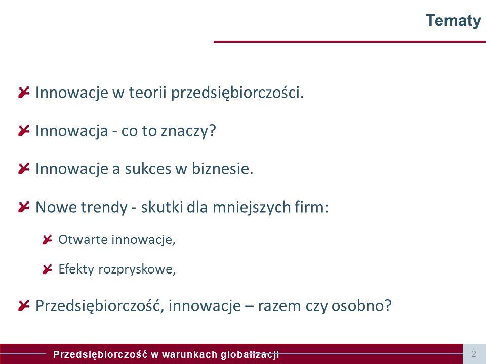 Innowacje w teorii przedsiębiorczości. Innowacja - co to znaczy