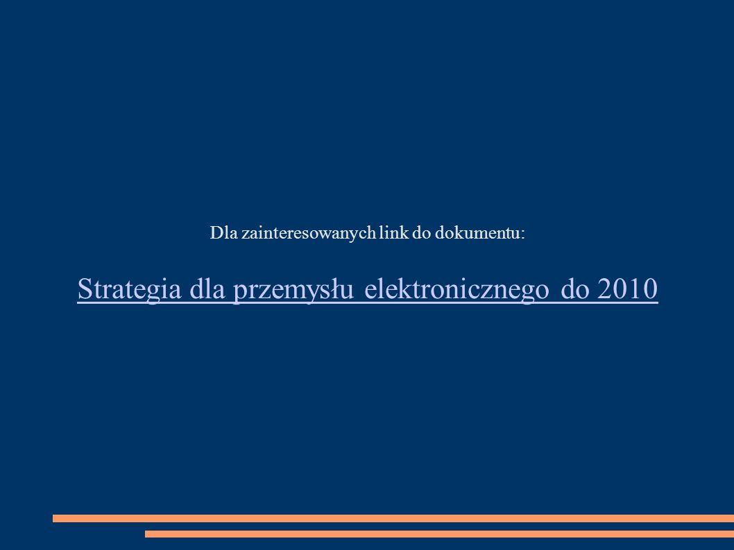 Strategia dla przemysłu elektronicznego do 2010