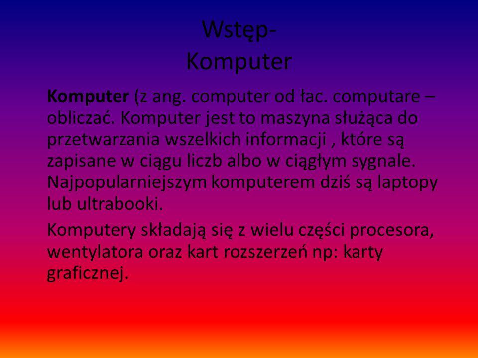 Wstęp- Komputer