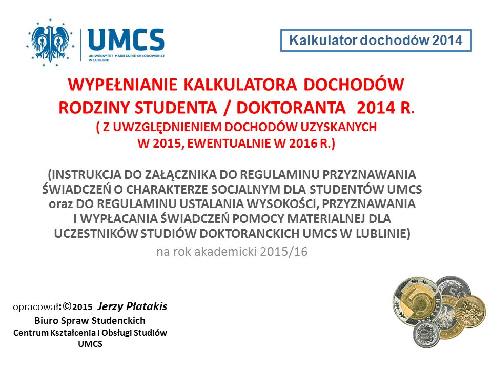 Biuro Spraw Studenckich Centrum Kształcenia i Obsługi Studiów UMCS