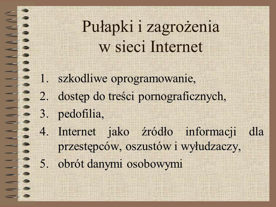 Pułapki i zagrożenia w sieci Internet