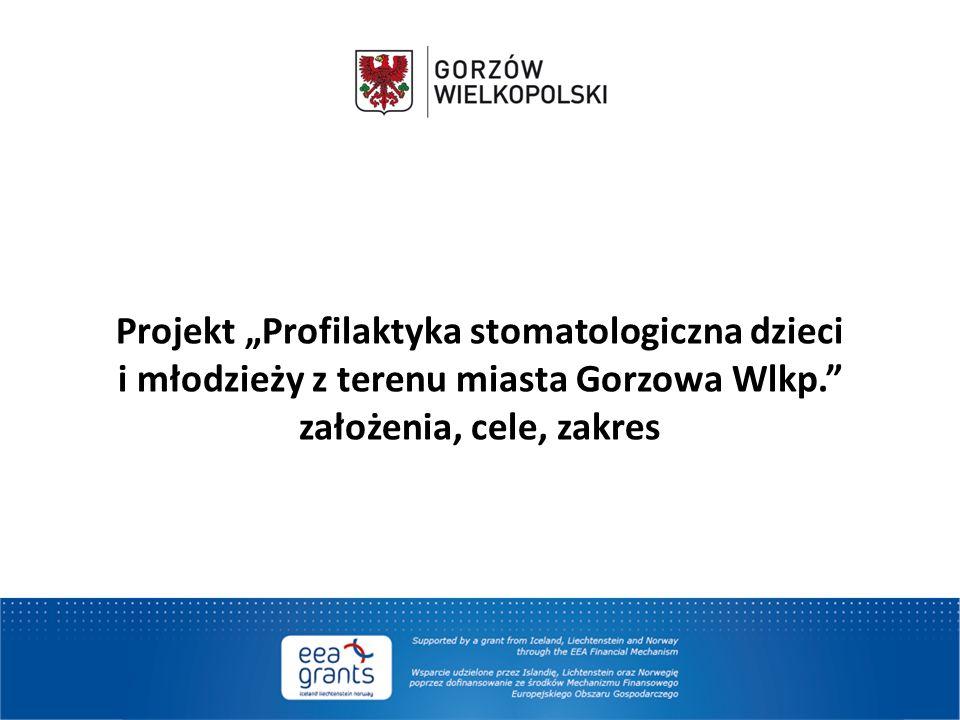 """Projekt """"Profilaktyka stomatologiczna dzieci i młodzieży z terenu miasta Gorzowa Wlkp. założenia, cele, zakres"""