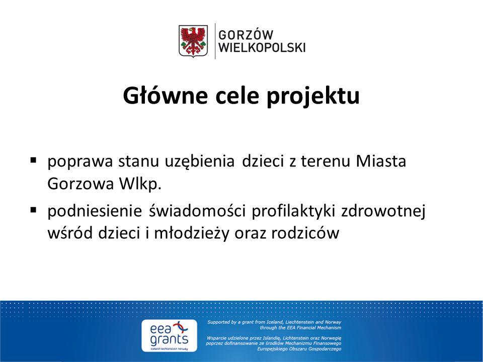 Główne cele projektu poprawa stanu uzębienia dzieci z terenu Miasta Gorzowa Wlkp.