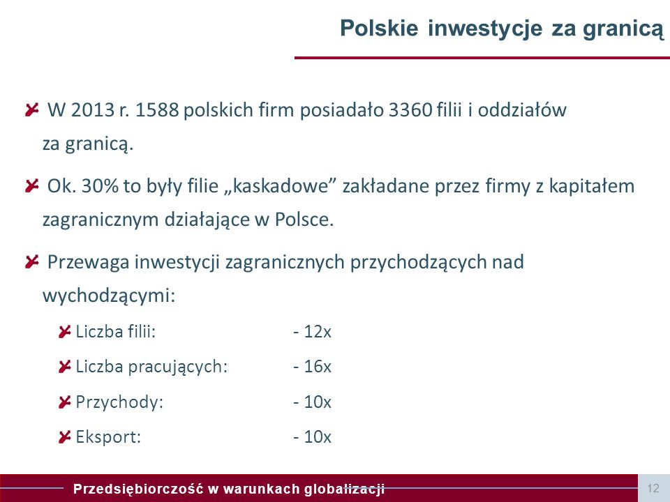 Polskie inwestycje za granicą