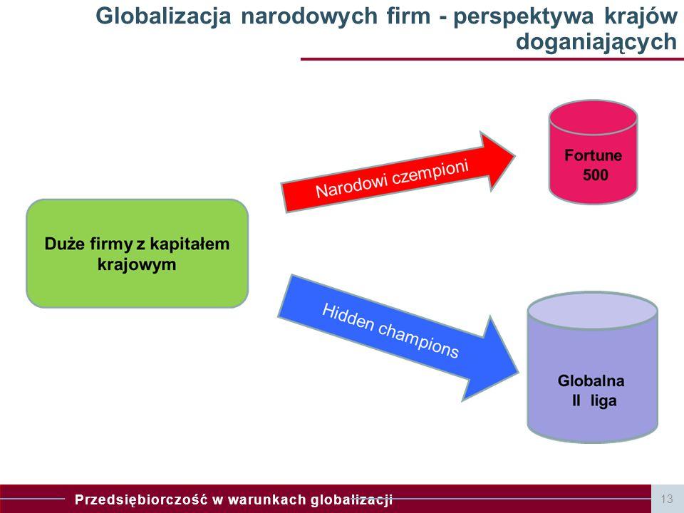 Globalizacja narodowych firm - perspektywa krajów doganiających