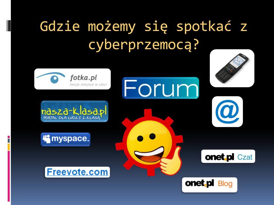 Gdzie możemy się spotkać z cyberprzemocą