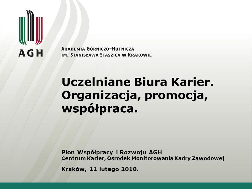Uczelniane Biura Karier. Organizacja, promocja, współpraca.
