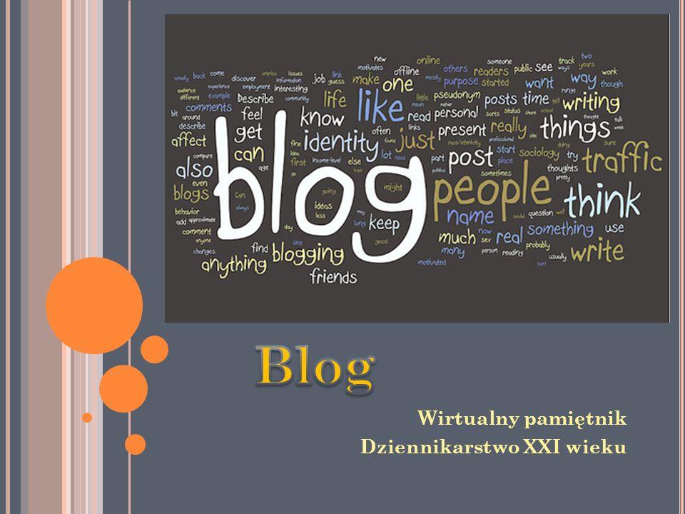 Blog Wirtualny pamiętnik Dziennikarstwo XXI wieku