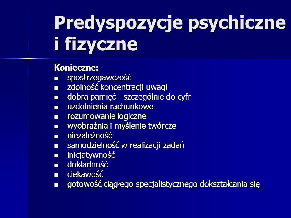 Predyspozycje psychiczne i fizyczne