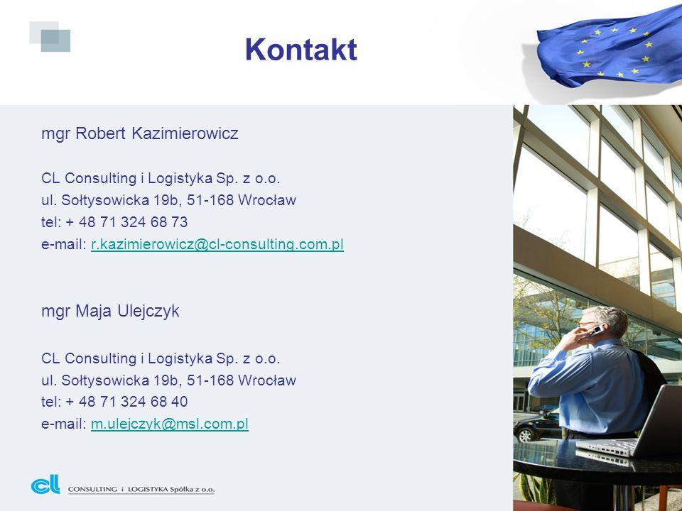 Kontakt mgr Robert Kazimierowicz mgr Maja Ulejczyk