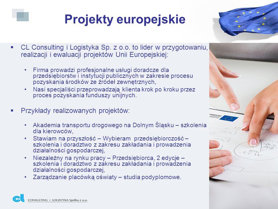 Projekty europejskieCL Consulting i Logistyka Sp. z o.o. to lider w przygotowaniu, realizacji i ewaluacji projektów Unii Europejskiej: