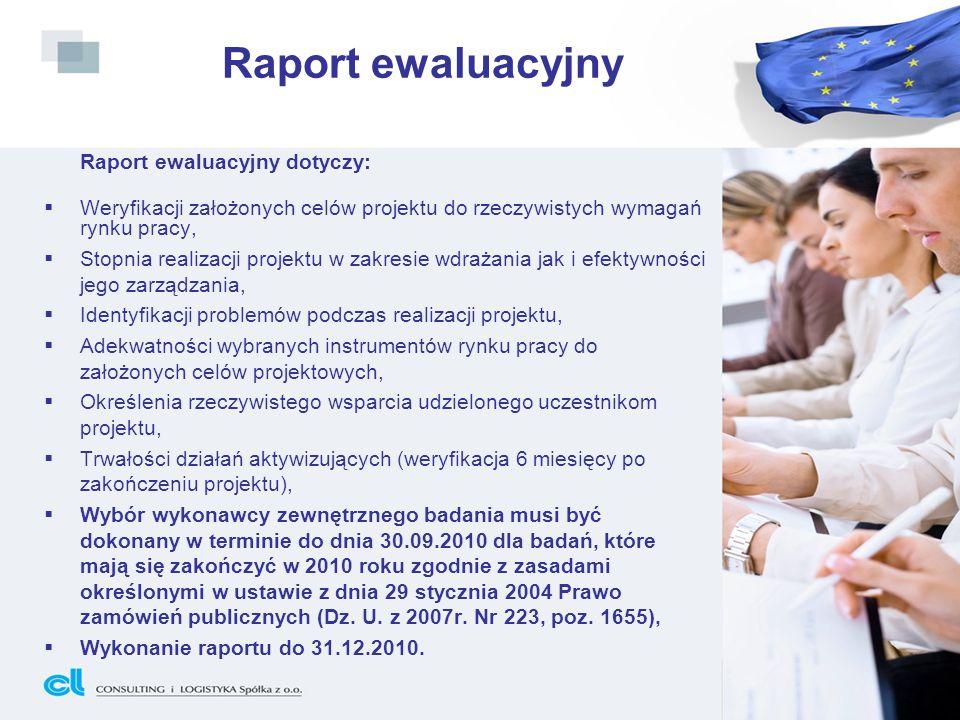 Raport ewaluacyjny Raport ewaluacyjny dotyczy: