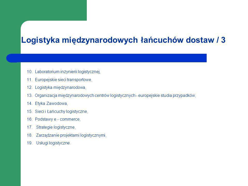 Logistyka międzynarodowych łańcuchów dostaw / 3