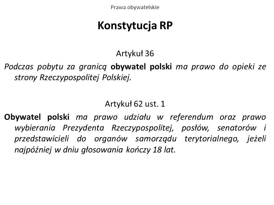 Konstytucja RP Artykuł 36
