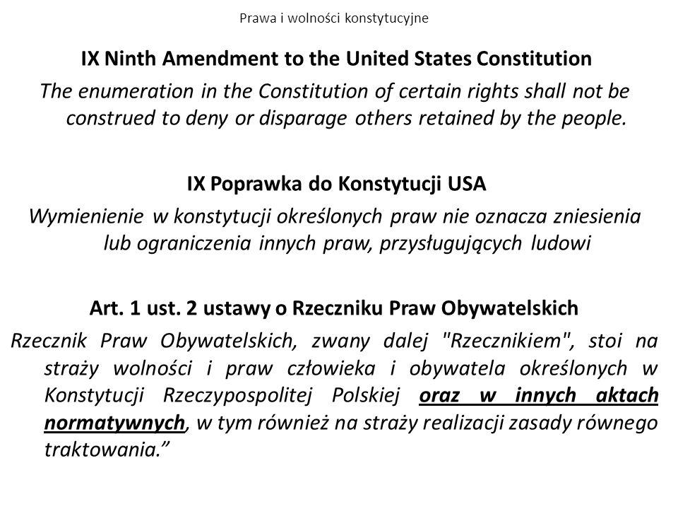 Prawa i wolności konstytucyjne