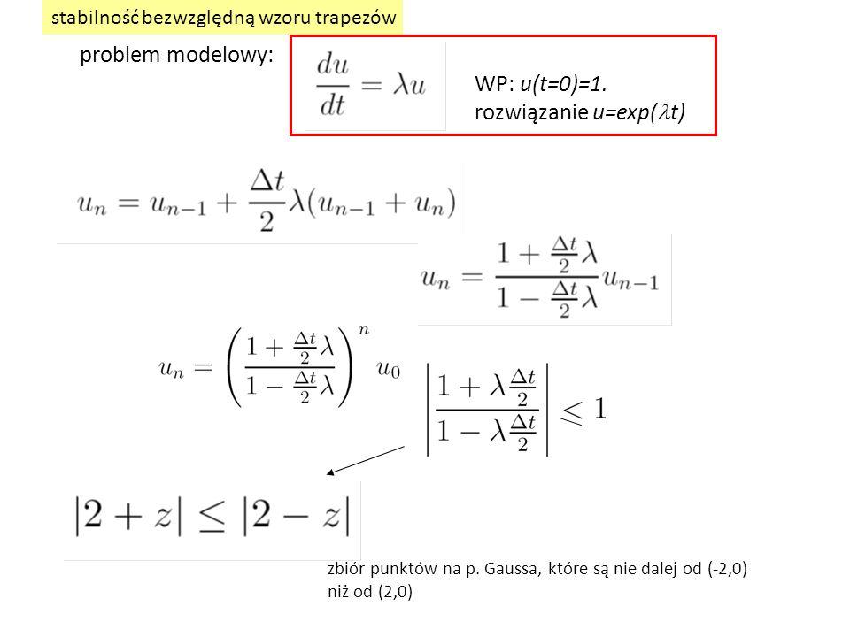rozwiązanie u=exp(lt)