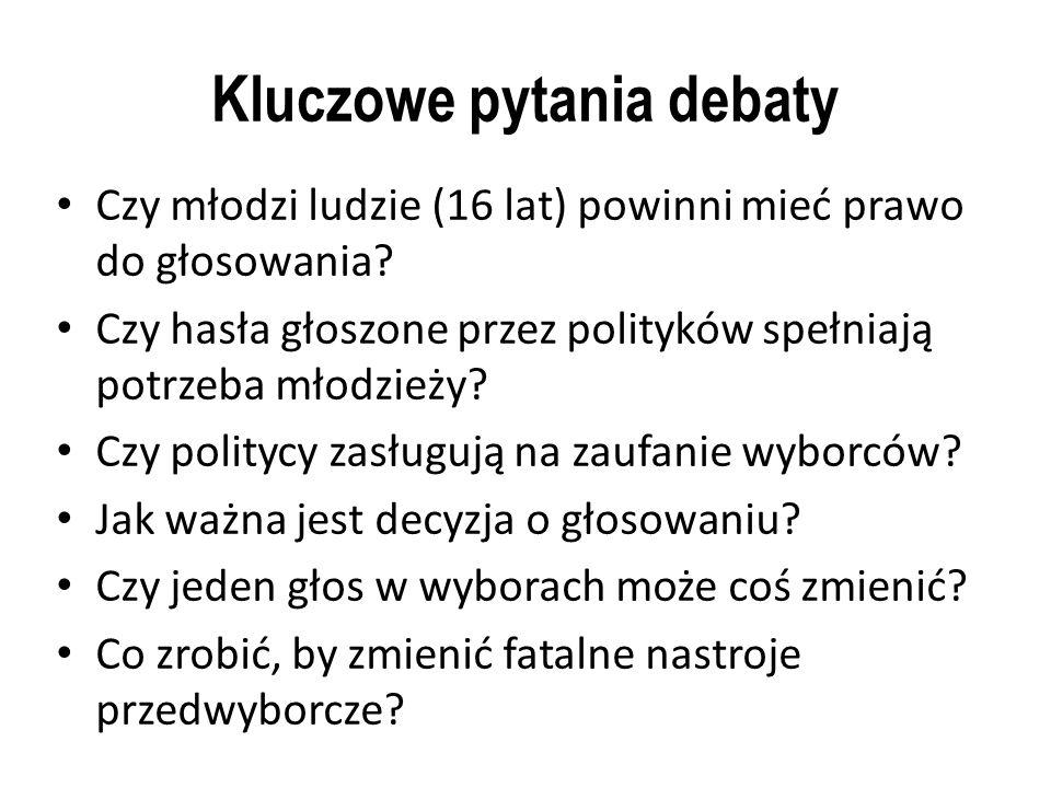 Kluczowe pytania debaty