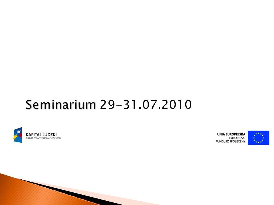 Seminarium 29-31.07.2010