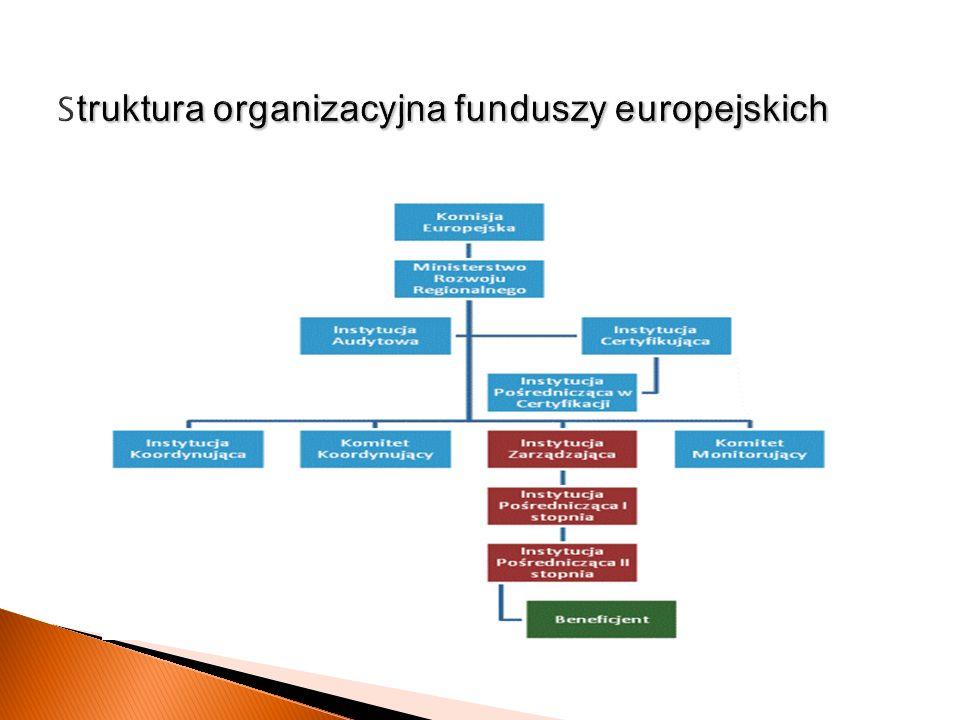 Struktura organizacyjna funduszy europejskich