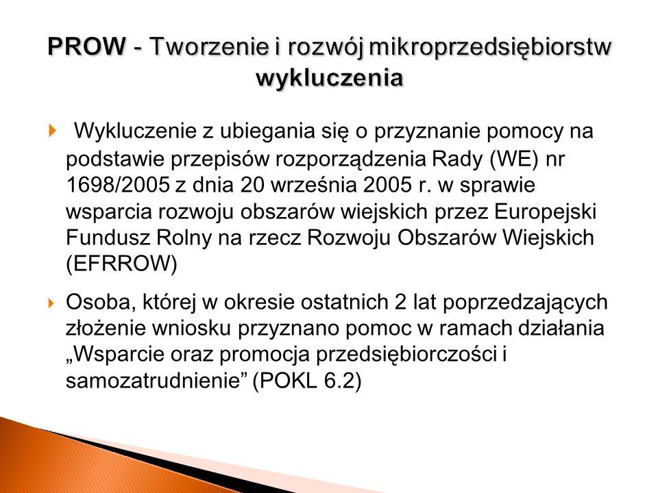 PROW - Tworzenie i rozwój mikroprzedsiębiorstw wykluczenia