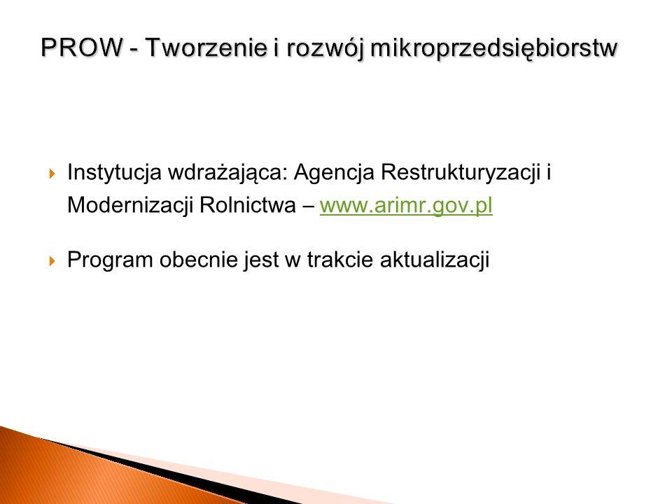 PROW - Tworzenie i rozwój mikroprzedsiębiorstw