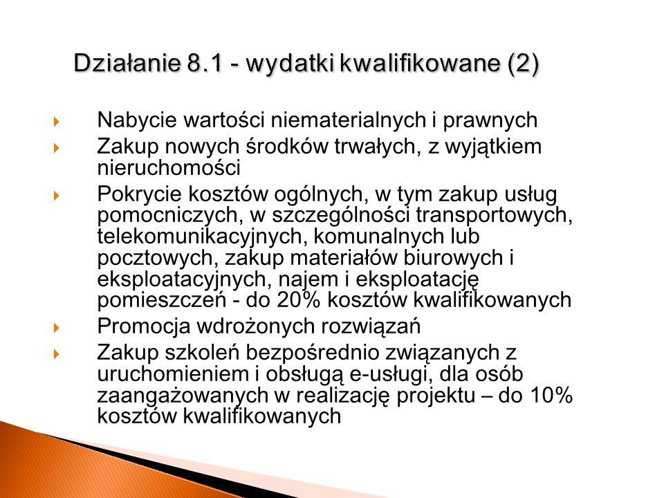 Działanie 8.1 - wydatki kwalifikowane (2)