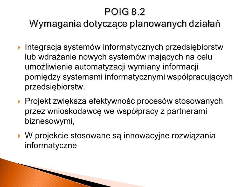POIG 8.2 Wymagania dotyczące planowanych działań