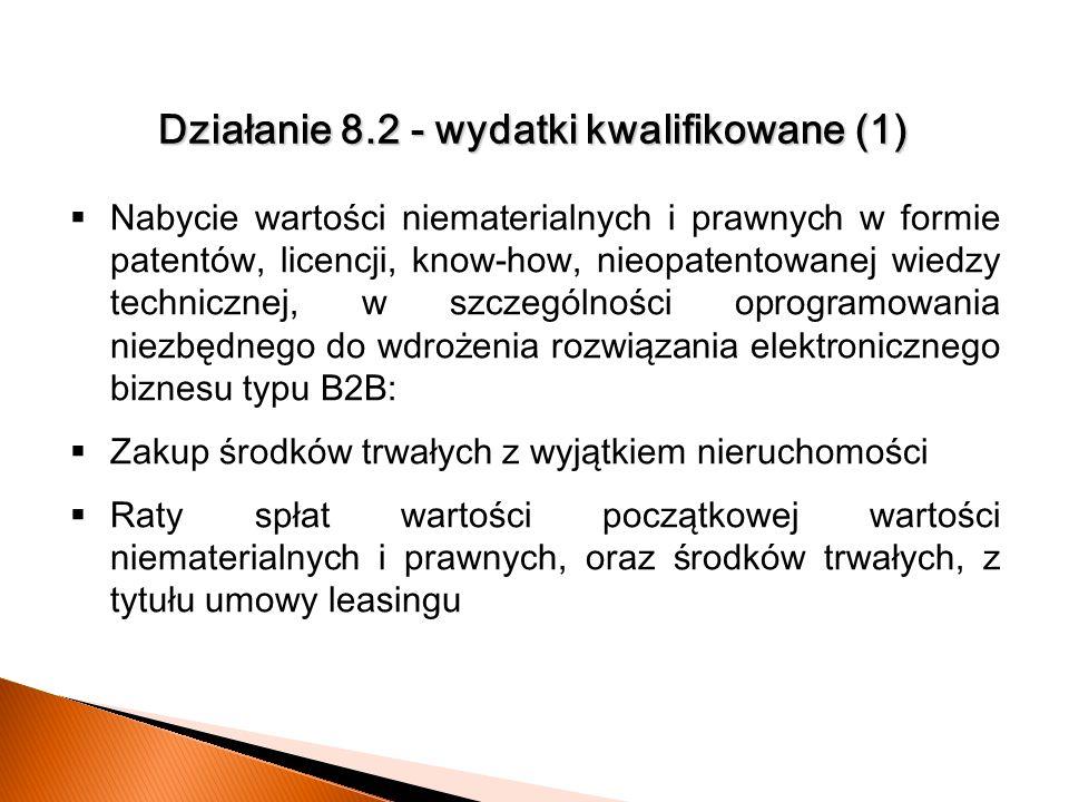 Działanie 8.2 - wydatki kwalifikowane (1)