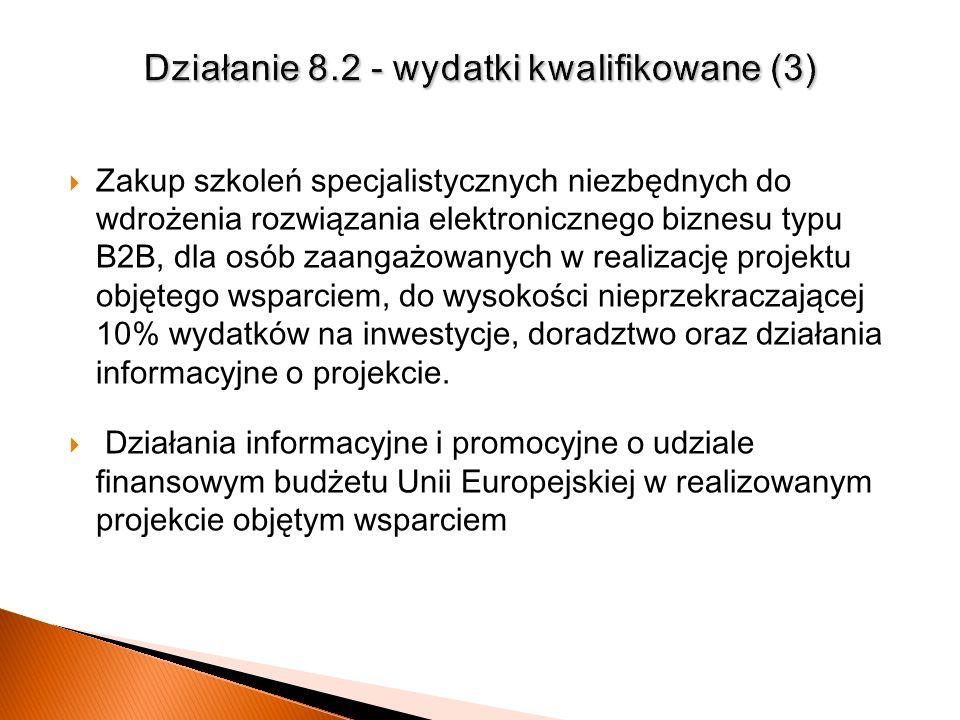 Działanie 8.2 - wydatki kwalifikowane (3)